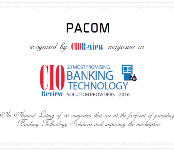 Certificate of 20 most promising banking technology solution providers