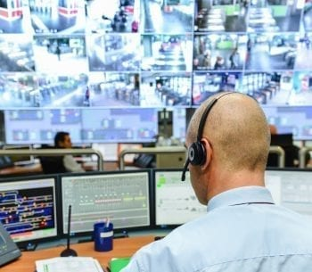 remote security management tools | Alarm monitoring software in a control room | automated building control